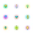 Lamp icons set pop-art style vector image