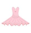 Pink ballet dress vector image