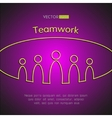 A team of people Teamwork business concept vector image
