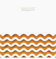 abstract orange waves pattern background design vector image vector image