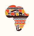 africa continent tribal art map concept vector image vector image