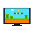 arcade game on lcd panel flat isolated vector image vector image