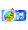 banner for earth day vector image