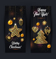 banners of christmas vector image
