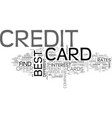 best credit card offer is still possible text vector image vector image