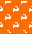 biceps pattern seamless vector image vector image