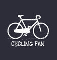 bicycle cycling t-shirt print vector image vector image