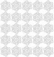 Black and white abstract flowers print pattern vector image vector image