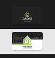 black business card template villa green color vector image vector image