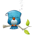 Blue Bird Sleeping vector image