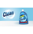 bottle detergent with label 3d mockup cleaning vector image