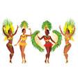 brazilian samba dancers vector image vector image