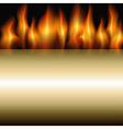 burning stripe vector image vector image