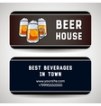Business Card For Beer House vector image