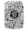cartoon cute doodles hand drawn oktoberfest vector image