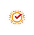 check sun logo icon design vector image