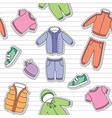 children clothes vector image vector image