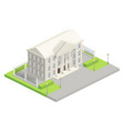 city hall parliament isometric vector image vector image