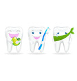 Collection Of Teeth vector image vector image