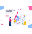 consult concept isometric vector image vector image