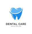 dental logo concept creative minimal design vector image