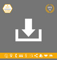 download from cloud icon graphic elements for vector image vector image