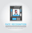 face recognition technology digital tablet vector image