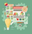 Flat of web analytics information and development