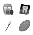gas mask x-ray and other monochrome icon in vector image vector image
