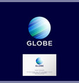 globe logo blue planet web ui icon vector image