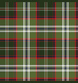 green check plaid pixel seamless fabric texture vector image vector image