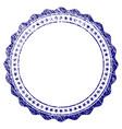grunge textured rosette circular star frame vector image