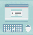 internet browser screen flat design vector image