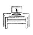 isolated desk design vector image vector image