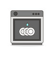kitchen dish washer vector image
