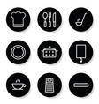 kitchen icon in white color set vector image vector image