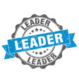 leader stamp sign seal vector image vector image