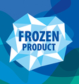 logo of the crystals for the frozen products vector image vector image
