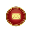 Mail icon with heart vector image vector image