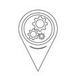 map pointer gear icon vector image vector image