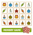 memory game for children cards with christmas vector image vector image