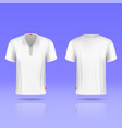 Mens white t-shirt realistic template vector image vector image