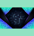 modern dark abstract background with shinny blue vector image vector image