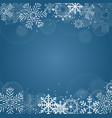 new year background with snowflake vector image