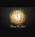 new year countdown watch holiday antique clock vector image vector image