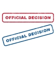 Official Decision Rubber Stamps vector image vector image