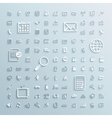 paper icons set of finance events office internet vector image vector image