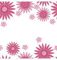 Pink flower background vector image vector image
