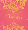 pink indian card vector image