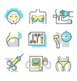 Plastic Surgery Icons vector image vector image